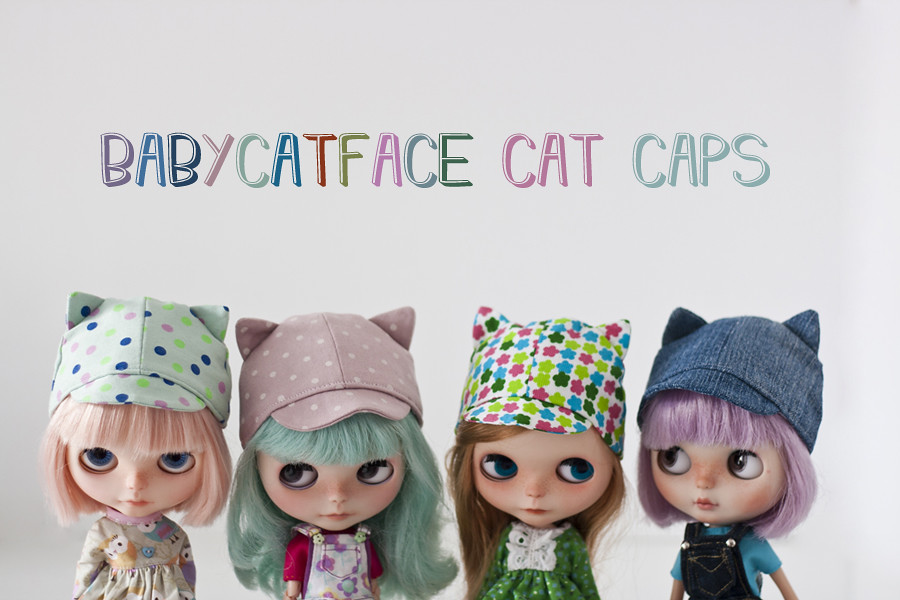 Babycatface cat caps