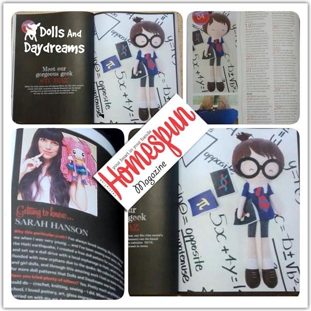 Exclusive interview and pattern design for #Homespunmagazine ♡ hooray!   #patternmaker #patterndesign #dollpattern #geek #nerd #schoolboy
