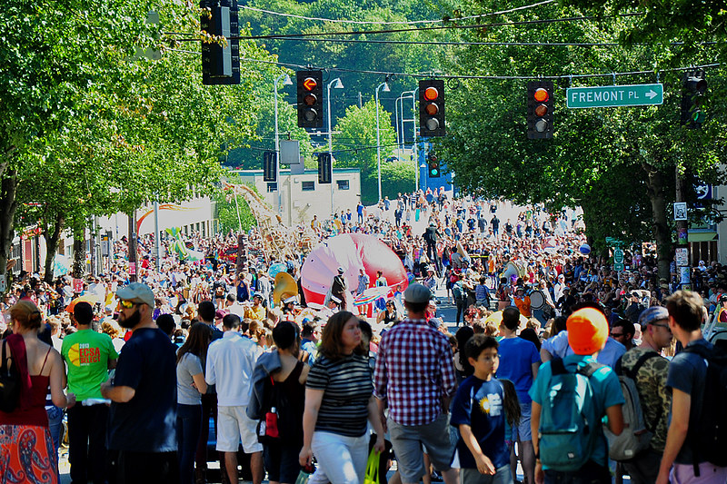 Solstice Parade in Fremont, Seattle, Washington