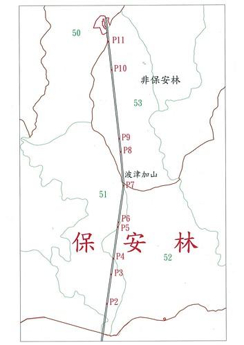 雪谷線塔柱位置圖