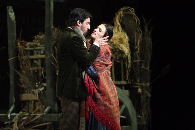 Charles Castronovo as Rodolfo and Ermonela Jaho as Mimì  in La bohème © ROH / Catherine Ashmore