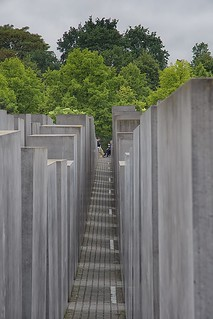 Image of Memorial to the Murdered Jews of Europe near Tiergarten. berlin holocaust memorial jews europe