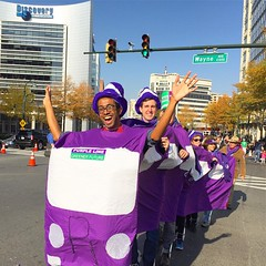 the #MoCoThanksParade is my favorite #silverspring event of the year. there's so much positivity in it, which we could really use now. #purpleline
