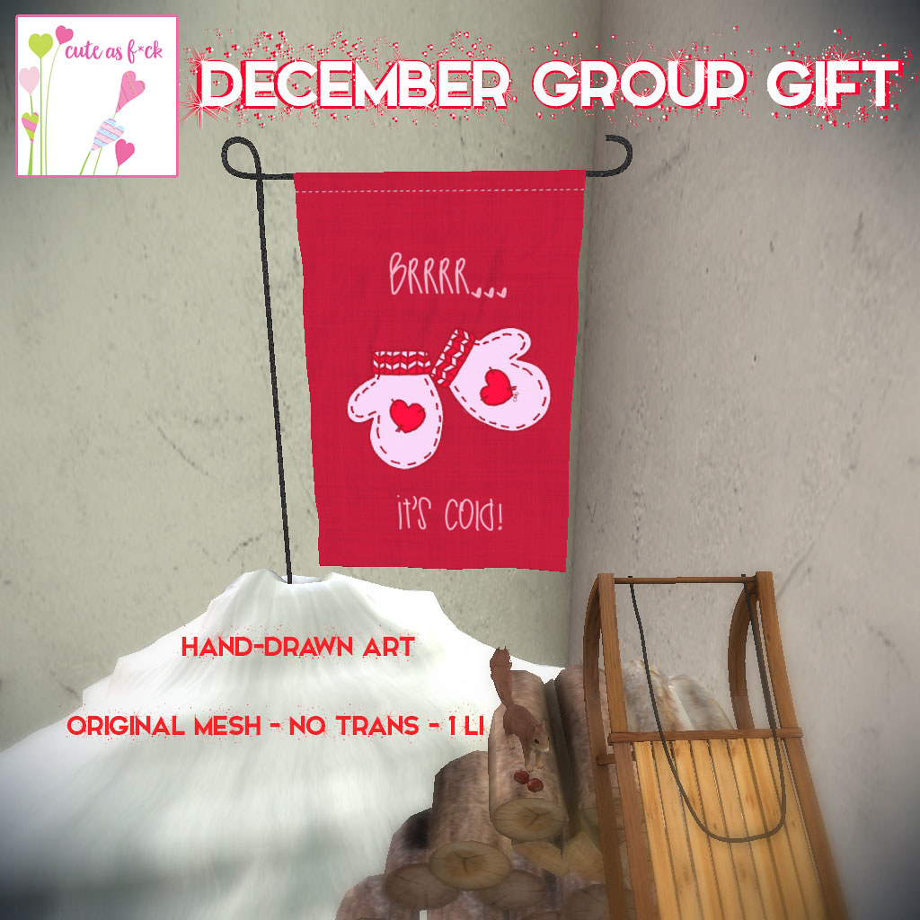 FREE December Group Gift from ::cute as f*ck:: - SecondLifeHub.com