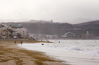 Image of Playa de Las Canteras. spain grancanaria island canon60d canonefs1585mmf3556isusm las palmas atlanticocean beach