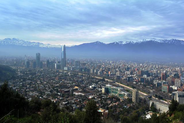 Santiago de Chile. San Cristóbal Hill.