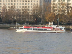 River Thames from the South Bank in London - boat - River Cruise - Coca Cola London Eye