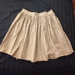 American Apparel brown seersucker skirt from triplyksis on Poshmark