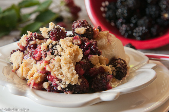 Speedy Blackberry Cobbler