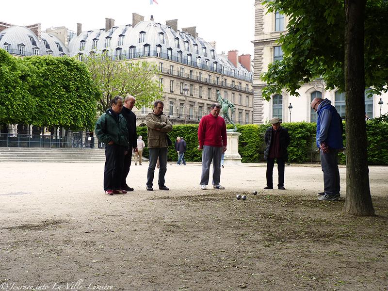 Pétanque in Jardin de Tuileries
