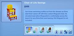 Chair of Life Savings