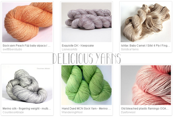 Etsy favourite lists : 'delicious yarns' curated by Emma Lamb