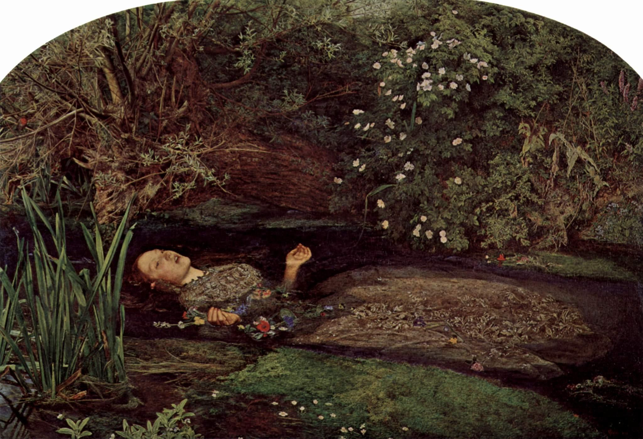 Ofelia. Obra de John Everett Millais (1829-1896)