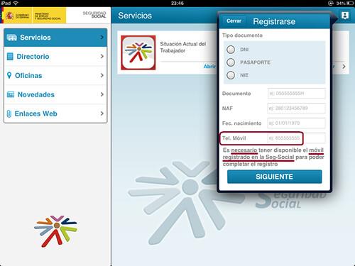 Apps de la Seguridad Social