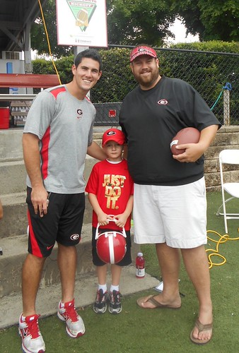 Trey and Daddy with Aaron Murray