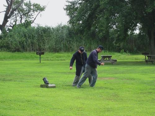 Fort Delaware, Coehorn Mortar Demo