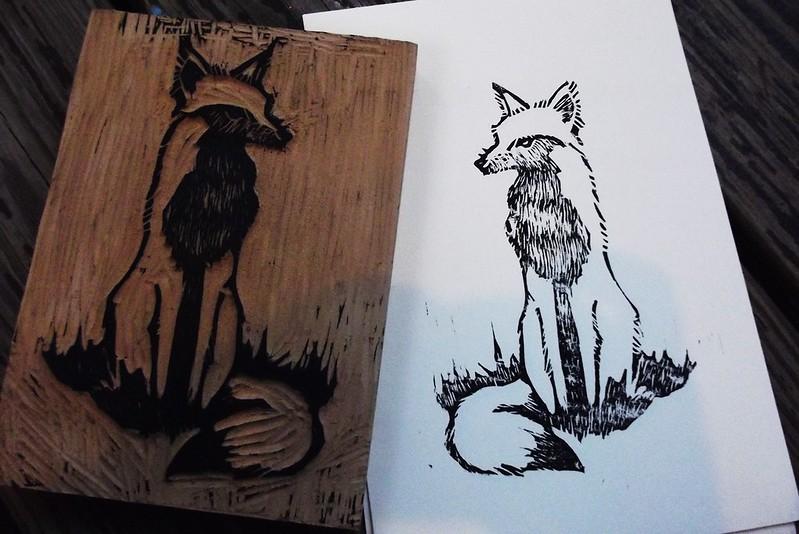 Fox Block Print