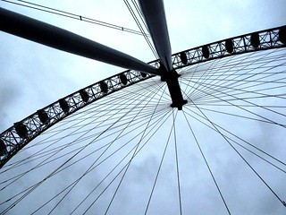 Giant bicycle wheel