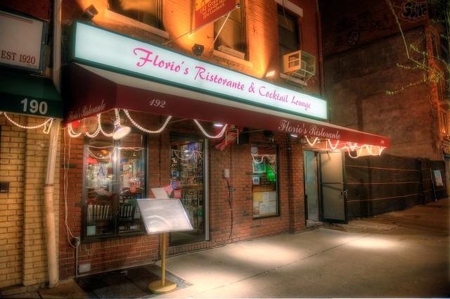 Florio's Italian restaurant in Little Italy of New York City HDR