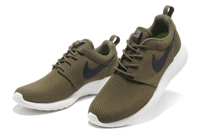 Nike_Roshe_Run_Mens_Shoes_Breathable_For_Summer_Army_Green_03