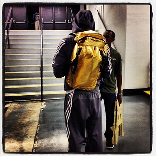 John Wall's post-game backpack game: Golden.