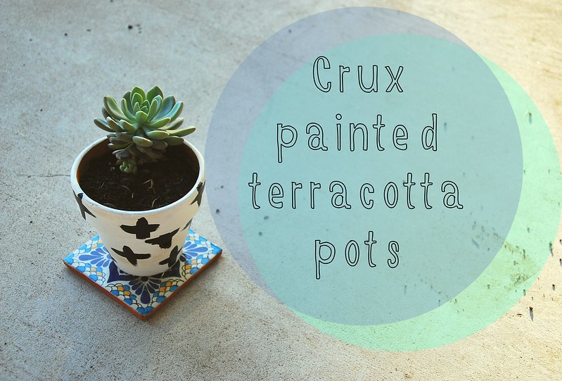 crux painted terracotta pots