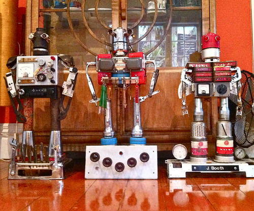 "I have built another trio of robots from a deceased man's shed for a family to have a permanent reminder of ""grandad"""