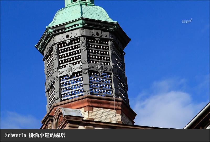 掛滿小鐘的鐘塔