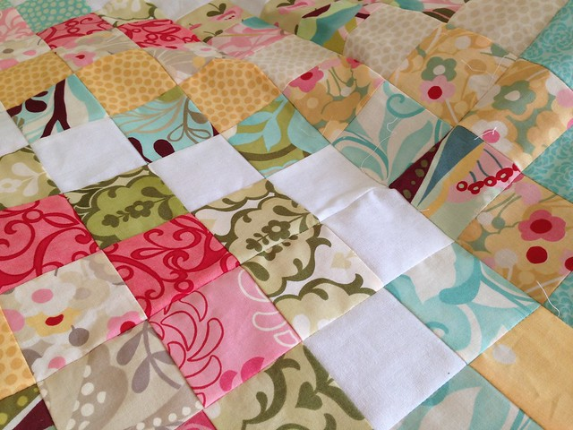 Trip around the jelly roll quilt top finished