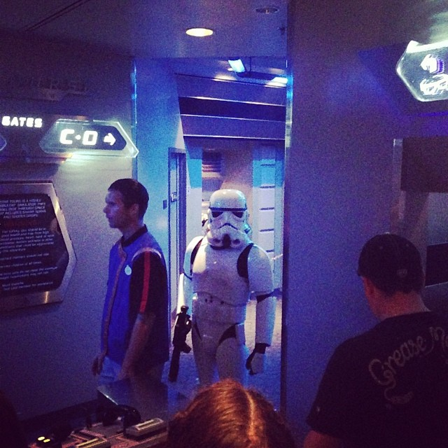"""I have a very bad feeling about this."" #starwars #disneyland"