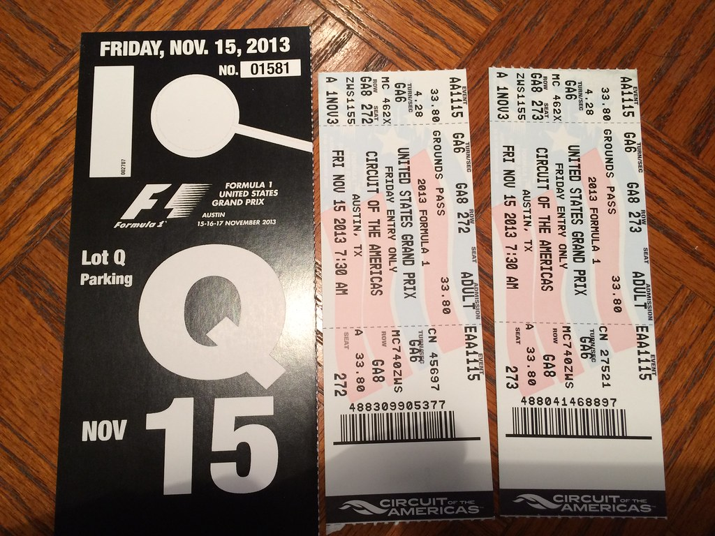 Fs For Sale Cota Formula 1 Tickets And Parking Nasioc