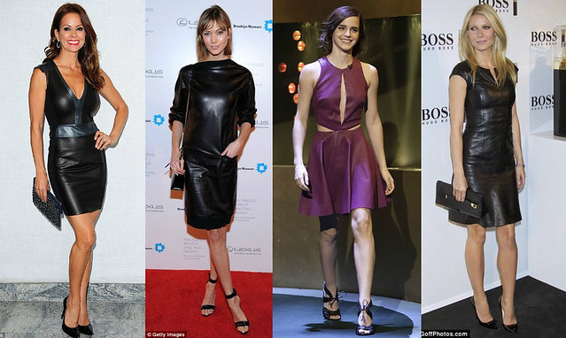 How-to-style-leather-dresses,Leather on leather, Leather-on-leather-trend, Leather dress, how to style leather dresses