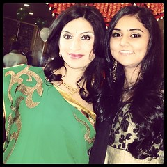 My cousin @poonam6 and I at my Indian baby shower hosted by my parents.