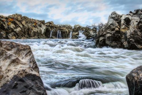 river virginia waterfall day cloudy greatfalls rapids potomacriver greatfallspark greatfallsnationalpark nikond600 fishermanseddy nikon2470mmf28 insiteimage