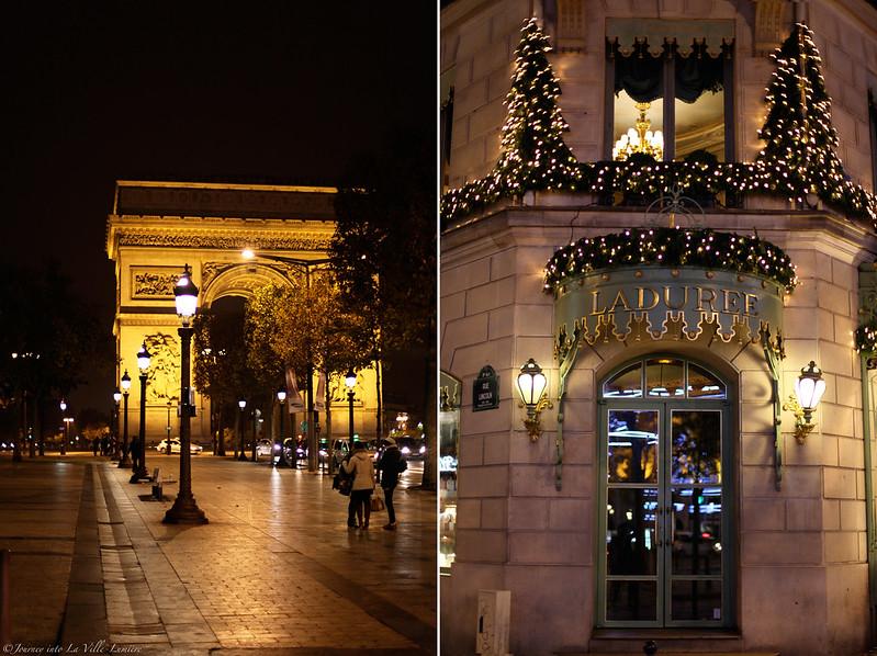 Midnight at Avenue des Champs-Élysées