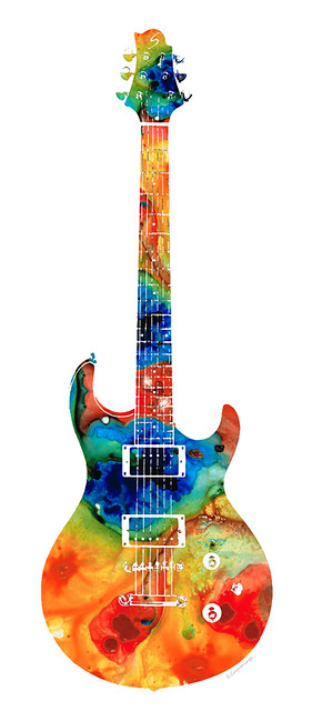 colorful electric guitar 2 abstract art by sharon cummings flickr photo sharing. Black Bedroom Furniture Sets. Home Design Ideas