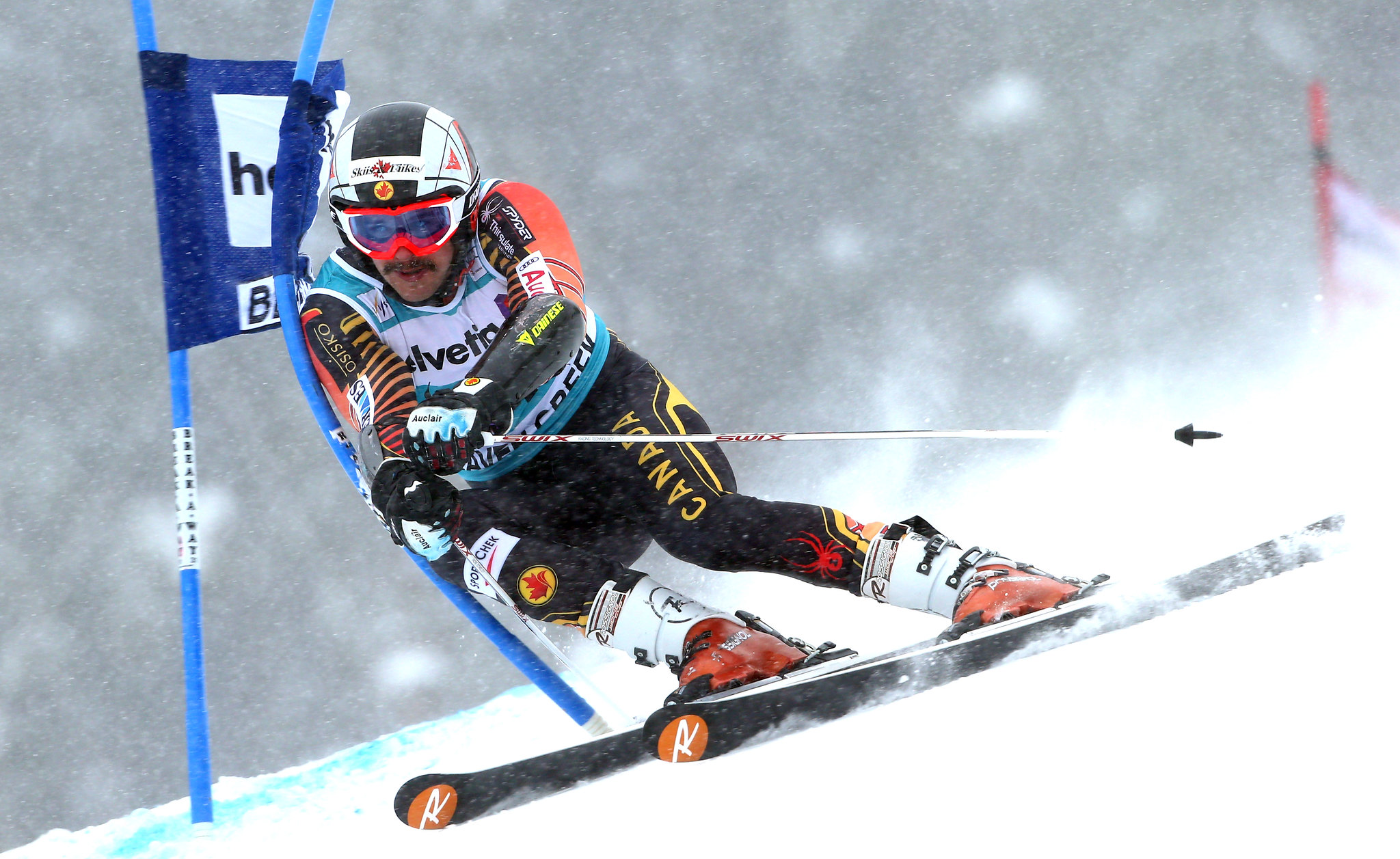 Philip Brown in action at the FIS Alpine World Cup in Beaver Creek, USA