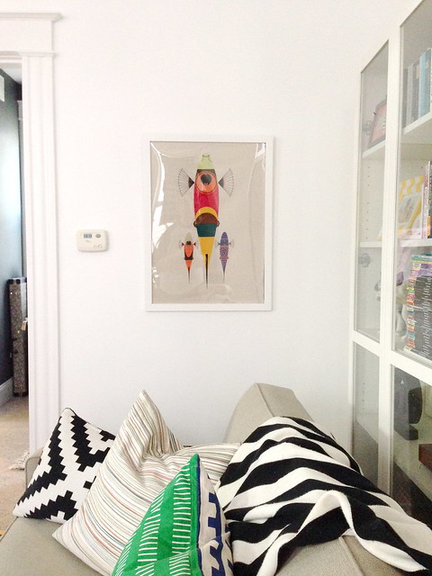 tea towels as art go haus go a diy and design blog by emily may