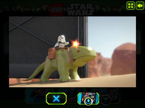 LEGO Star Wars 2013 Advent Calendar Minigame Bonus Video - Dewback