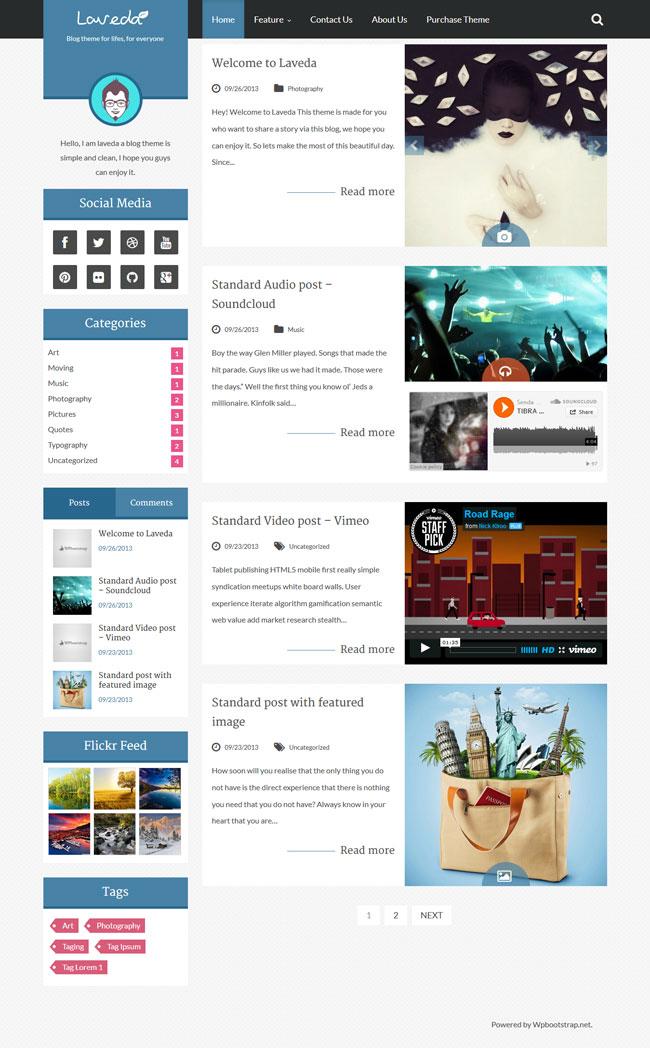 Laveda - Retina Responsive WordPress Blog Theme