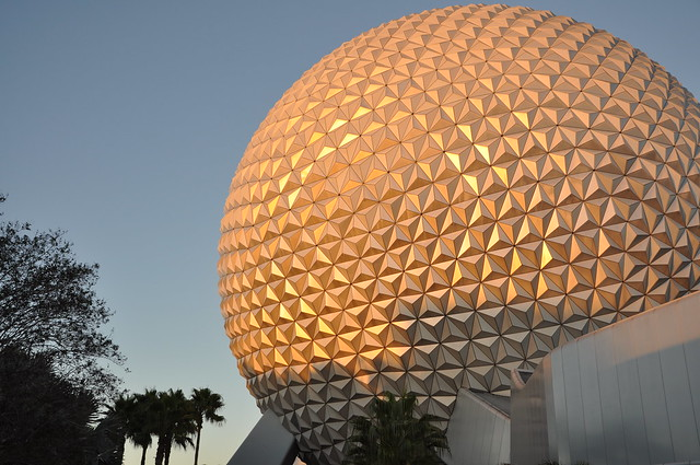 Sunset at Spaceship Earth