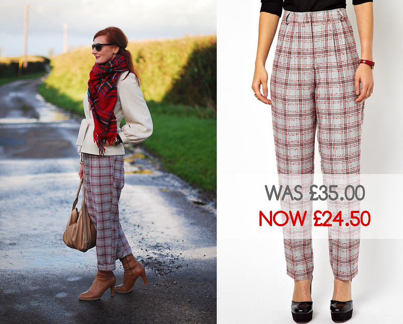 Asos check trousers - sale