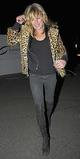 Kate Moss Leopard Print Coat Celebrity Style Women's Fashion