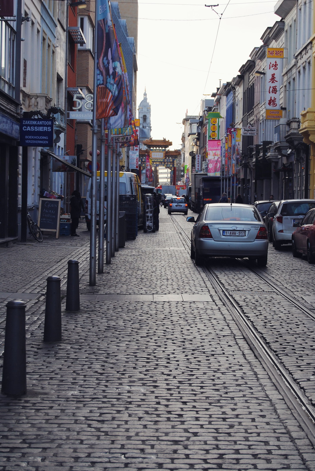 A street view of Antwerp's Chinatown.