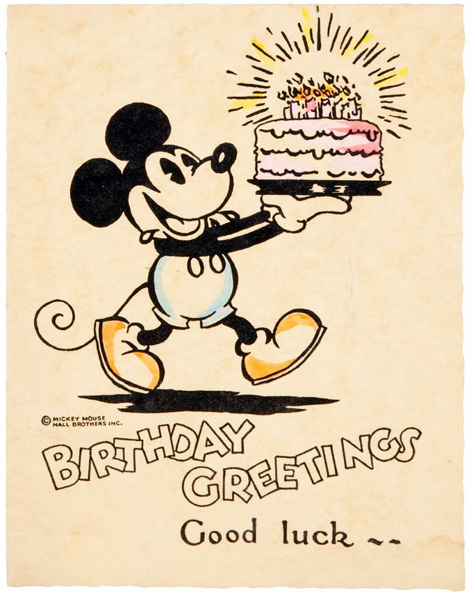 Mickey Mouse birthday card birthday cake a photo on Flickriver