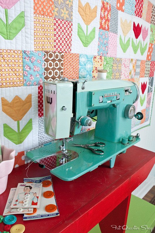 Tulip Patch Quilt in Quilty Fun by Lori Holt of Bee in my Bonnet