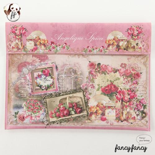 90.維多利亞風玫瑰花園B5文件夾(日本製 一組兩個)