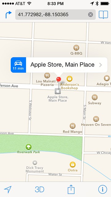 how to open apple maps location on android