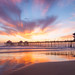 Sunset, Huntington Beach Pier by theFenguon