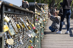 Love locks on the bridge 'Pont des Arts' (Paris)